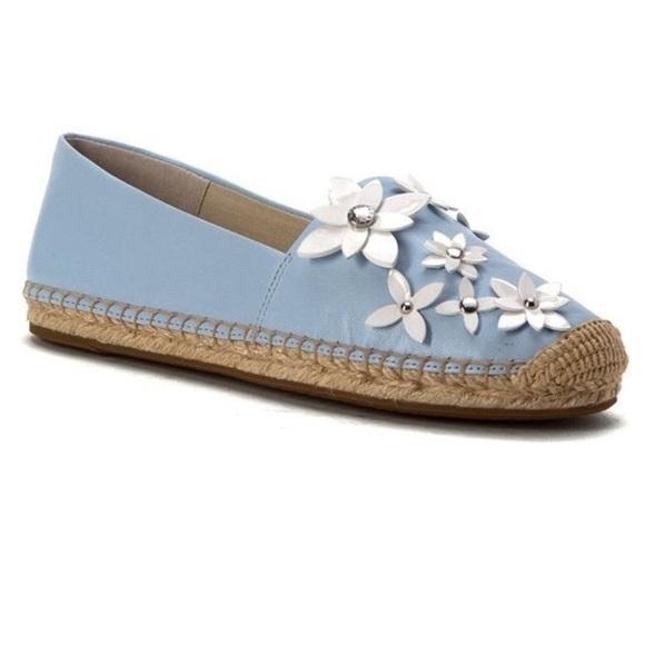cafb6370f6d0 Michael Kors LOLA Light Blue Floral Espadrilles